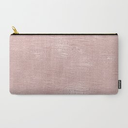 Metallic Rose Gold Blush Carry-All Pouch