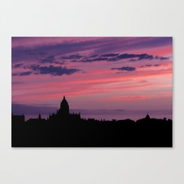 Cathedral of Segovia at Sunset Canvas Print