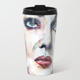 MARIA CALLAS - watercolor portrait .8 Travel Mug