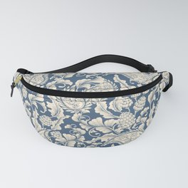 Vintage & Shabby Chic - William Morris Classic Blue Antique Floral Fanny Pack