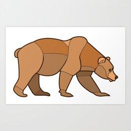Shapely Brown Bear Art Print