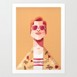 Brad Pitt (Once upon a time in Hollywood). Art Print