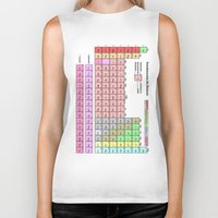 periodic table Biker Tanks featuring Periodic Table Of  The Elements by GrafXthings