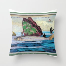 The supremacy of the message Throw Pillow