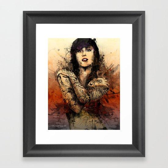 Kat Von D Framed Art Print