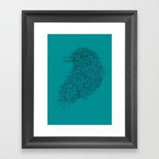 Tosca line art bird illustration Framed Art Print