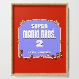Super Mario Bros. 2 (NES) Title Serving Tray