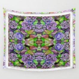 AUTUMN HYDRANGEA MANDALA Wall Tapestry