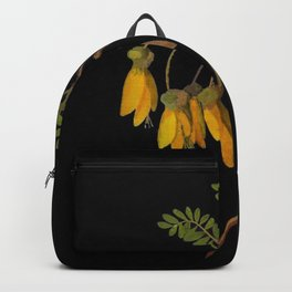 Sophora Tetraptera Mary Delany Floral Paper Collage Delicate Vintage Flowers Backpack