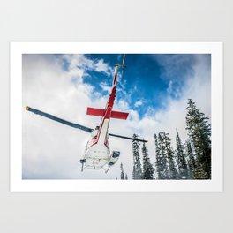 Heli in Flight Art Print