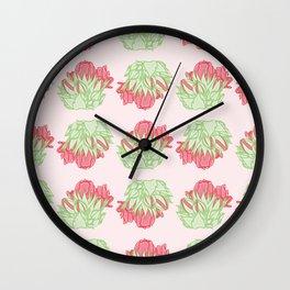 Zonal Geranium Buds Pattern Wall Clock