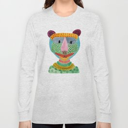 Cute Bear Watecolor Long Sleeve T-shirt