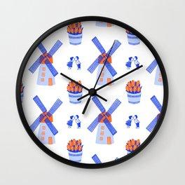 Dutch blue pattern Wall Clock