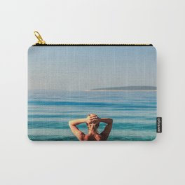Girl at the sea in Croatia Carry-All Pouch