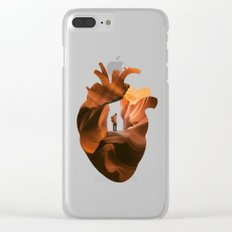 Heart Explorer Clear iPhone Case