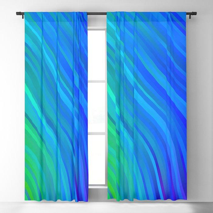 stripes wave pattern 1 stdv Blackout Curtain