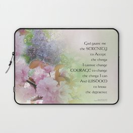 Serenity Prayer Spring Flowers Laptop Sleeve