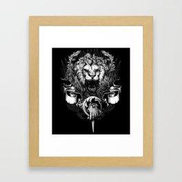 Lion Crest Framed Art Print