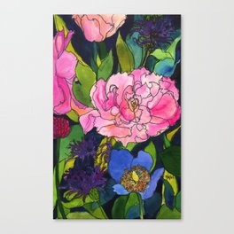 French Lavender & Roses Canvas Print