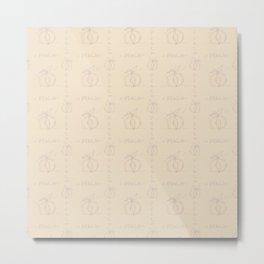 Peachy-glitchy sketch draft pattern Metal Print
