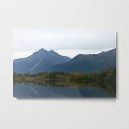 Fall Mountain Reflection Metal Print