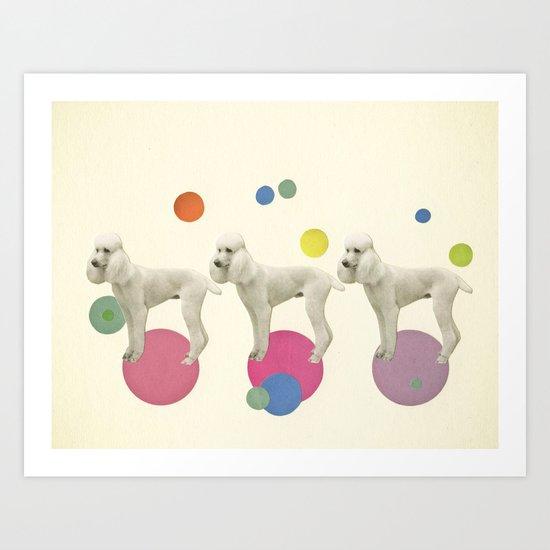 Oodles of Poodles Art Print