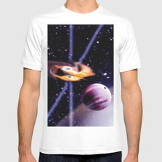 Combined gravity. Mens Fitted Tee White MEDIUM