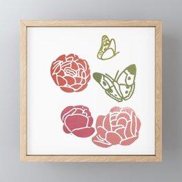 Les feuilles s'envolent Framed Mini Art Print
