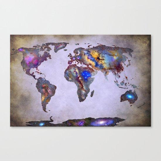 Stars world map. Space. Canvas Print