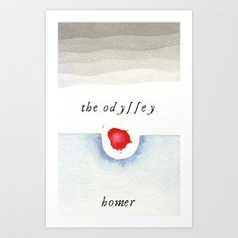 The Odyssey Book Cover Art Print