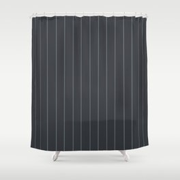 Gray with Gray Pinstripes Shower Curtain