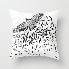 Of a feather Throw Pillow
