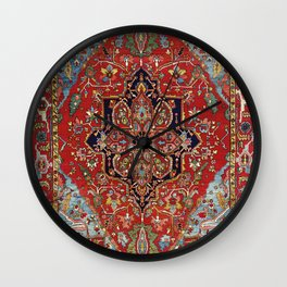 Heriz  Antique Persian Rug Print Wall Clock