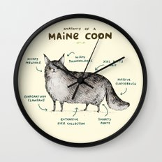 Anatomy of a Maine Coon Wall Clock