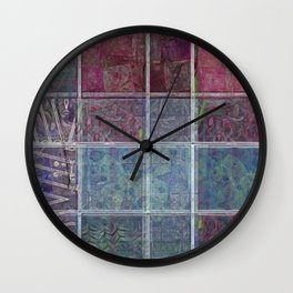 Synergy Watercolor Quilt 01 Wall Clock