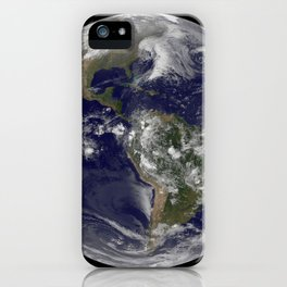 1098. NASA GOES-12 Full Disk view March 30, 2010 iPhone Case