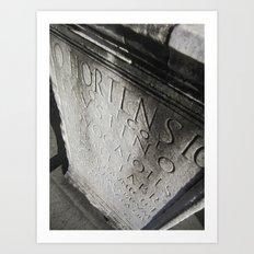 wisdom in stone. Art Print