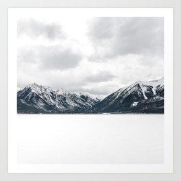 Snow Mountains, Minimalist Art Print