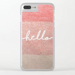 Pillow Talk Clear iPhone Case
