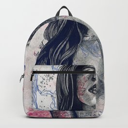 Nothing Violates This Nature: Blue (erotic drawing, nude butterfly girl) Backpack