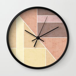 Simple geometric pattern. 2 Wall Clock