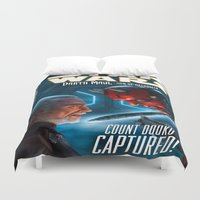 starwars Duvet Covers featuring StarWars :  Count Dooku Capture! by Don Kuing