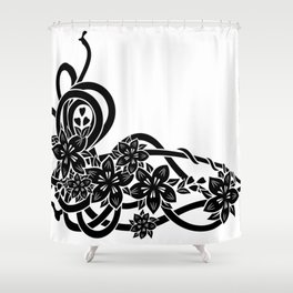 Abstract floral ornament Shower Curtain