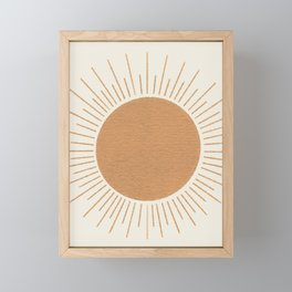 Sun Ray Mid-century Framed Mini Art Print