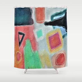 Untitled Abstract Digital Painting Shower Curtain