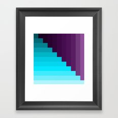 Ups and Down | Deep Within | Purple | Blue | Turquoise Framed Art Print