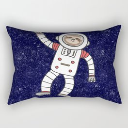 Sloth Spaceman Rectangular Pillow