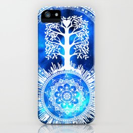 Tree Of Life Glowing Mandala iPhone Case