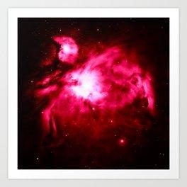 Magenta Pink Orion NebULA : Hauntingly Beautiful Space Art Print