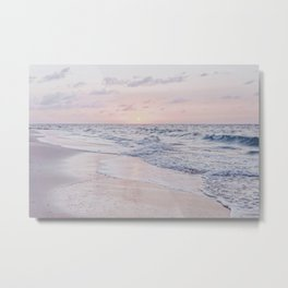 Summer Beach Sunset III Metal Print